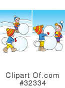Snowman Clipart #32334 by Alex Bannykh