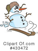 Royalty-Free (RF) Snowman Clipart Illustration #433472
