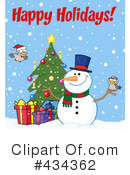 Snowman Clipart #434362 by Hit Toon