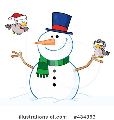 Snowman Clipart #434363 by Hit Toon
