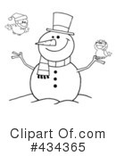 Snowman Clipart #434365 by Hit Toon