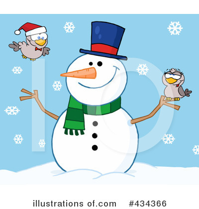 Snowman Clipart #434366 by Hit Toon