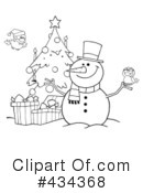 Snowman Clipart #434368 by Hit Toon