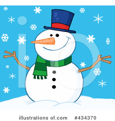Snowman Clipart #434370 by Hit Toon