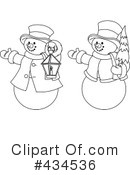 Snowman Clipart #434536 by Pushkin