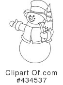 Snowman Clipart #434537 by Pushkin