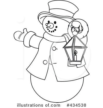 Royalty-Free (RF) Snowman Clipart Illustration by Pushkin - Stock ...