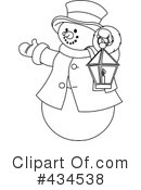 Snowman Clipart #434538 by Pushkin
