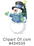 Royalty-Free (RF) snowman Clipart Illustration #434539