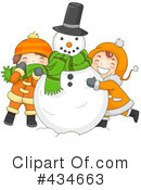 Snowman Clipart #434663 by BNP Design Studio