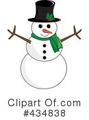 Snowman Clipart #434838 by Pams Clipart