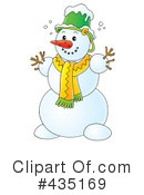 Snowman Clipart #435169 by Alex Bannykh