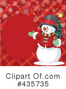 Royalty-Free (RF) snowman Clipart Illustration #435735