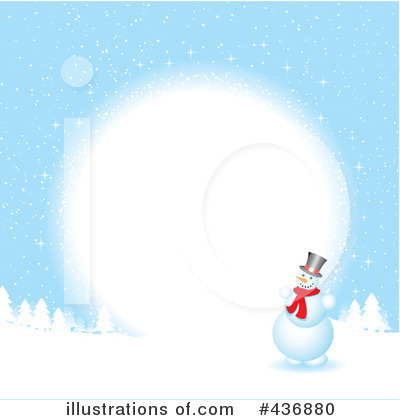 Royalty-Free (RF) Snowman Clipart Illustration by KJ Pargeter - Stock Sample #436880