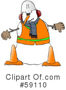 Royalty-Free (RF) Snowman Clipart Illustration #59110