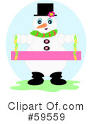 Royalty-Free (RF) snowman Clipart Illustration #59559