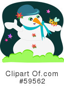 Royalty-Free (RF) Snowman Clipart Illustration #59562