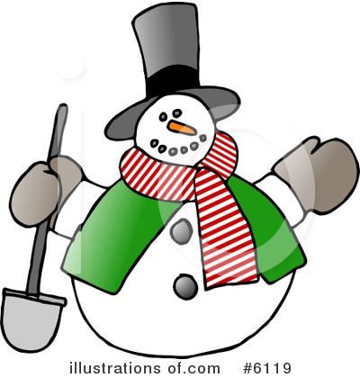 Royalty-Free (RF) Snowman Clipart Illustration by Dennis Cox - Stock Sample #6119
