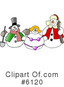 Royalty-Free (RF) Snowman Clipart Illustration #6120