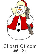 Royalty-Free (RF) Snowman Clipart Illustration #6121