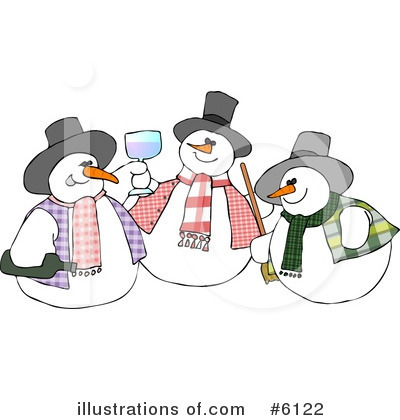 Royalty-Free (RF) Snowman Clipart Illustration by djart - Stock Sample #6122