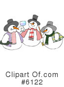 Royalty-Free (RF) snowman Clipart Illustration #6122