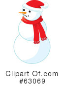 Royalty-Free (RF) snowman Clipart Illustration #63069