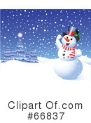 Royalty-Free (RF) snowman Clipart Illustration #66837