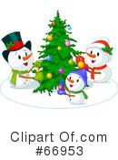 Royalty-Free (RF) snowman Clipart Illustration #66953