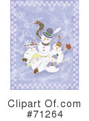 Royalty-Free (RF) snowman Clipart Illustration #71264