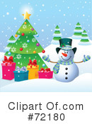 Royalty-Free (RF) snowman Clipart Illustration #72180