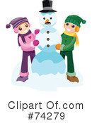 Royalty-Free (RF) snowman Clipart Illustration #74279