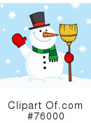 Royalty-Free (RF) snowman Clipart Illustration #76000