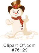 Royalty-Free (RF) Snowman Clipart Illustration #76129