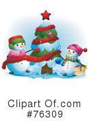 Snowman Clipart #76309 by BNP Design Studio