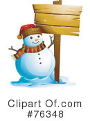Royalty-Free (RF) snowman Clipart Illustration #76348