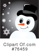 Royalty-Free (RF) snowman Clipart Illustration #76459
