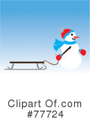 Royalty-Free (RF) snowman Clipart Illustration #77724