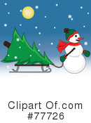 Snowman Clipart #77726 by Pams Clipart