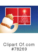 Royalty-Free (RF) snowman Clipart Illustration #78269