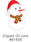 Royalty-Free (RF) snowman Clipart Illustration #81505