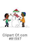 Royalty-Free (RF) snowman Clipart Illustration #81597