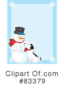 Royalty-Free (RF) snowman Clipart Illustration #83379