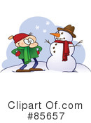Royalty-Free (RF) Snowman Clipart Illustration #85657
