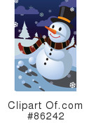 Royalty-Free (RF) snowman Clipart Illustration #86242