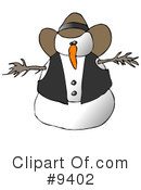 Royalty-Free (RF) Snowman Clipart Illustration #9402