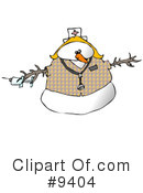 Royalty-Free (RF) Snowman Clipart Illustration #9404