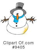 Royalty-Free (RF) Snowman Clipart Illustration #9405