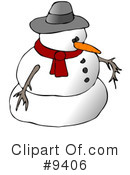 Royalty-Free (RF) snowman Clipart Illustration #9406