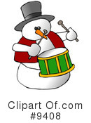 Royalty-Free (RF) Snowman Clipart Illustration #9408